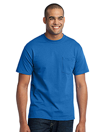 Port & Company PC55P 50/50 Cotton/Poly T-Shirt with Pocket.  at bigntallapparel