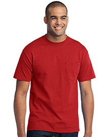 Port & Company PC55PT ® Tall 50/50 Cotton/Poly T-Shirt with Pocket.  at bigntallapparel