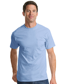 Port & Company PC61P Mens 100% Cotton T Shirt with Pocket at bigntallapparel