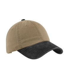 Mens Two Tone Garment-Washed Cap