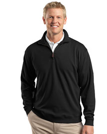 Mens 1/4 Zip Pima Interlock Fleece Jacket