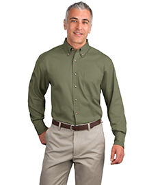 Mens Long Sleeve Twill Dress Shirt
