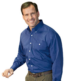 Mens Wrinkle Resistant End On End Dress Shirt