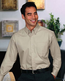 Mens Stretch Poplin Dress Shirt