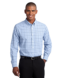 Crosshatch Plaid Easy Care Shirt. S641