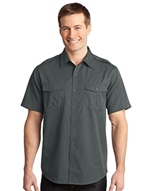 Port Authority S648 StainResistant Short Sleeve Twill Shirt at bigntallapparel