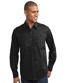 Port Authority S649 StainResistant Roll Sleeve Twill Shirt at bigntallapparel