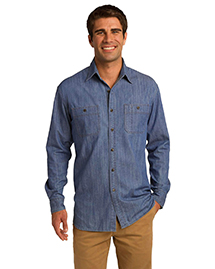 Port Authority® Denim Shirt with Patch Pockets. S652