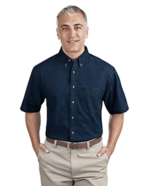 Port & Company SP11 Mens Short Sleeve Value Denim Shirt at bigntallapparel