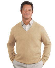 Mens Fine Gauge V Neck Sweater