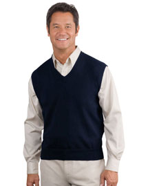 Mens Fine Gauge V Neck Sweater Vest
