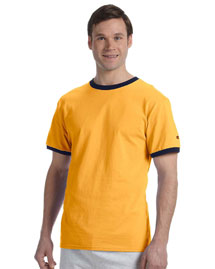 Champion T1396 6.1 oz. Tagless Ringer T-Shirt at bigntallapparel