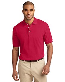 Mens Pique Knit Polo Sport Shirt