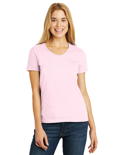 Hanes ® Ladies ComfortSoft ®  V-Neck T-Shirt. 5780
