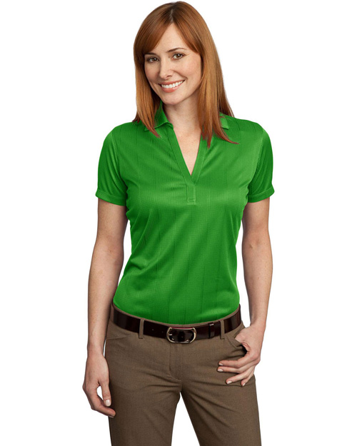 Ladies Performance Fine Jacquard Polo. L528